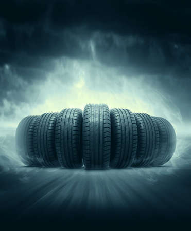 huellas de neumaticos: los neumáticos de vehículos