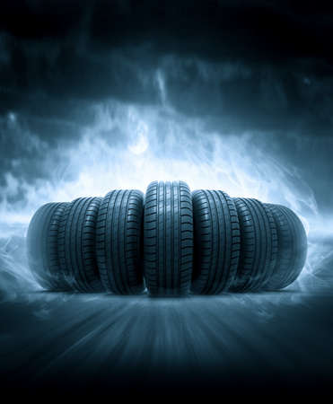 car garage: vehicle tires
