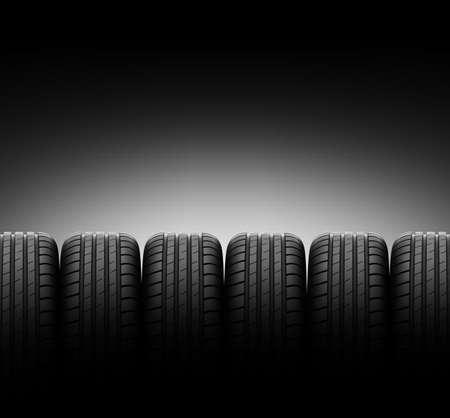 Los neumáticos de vehículos Foto de archivo - 35481212