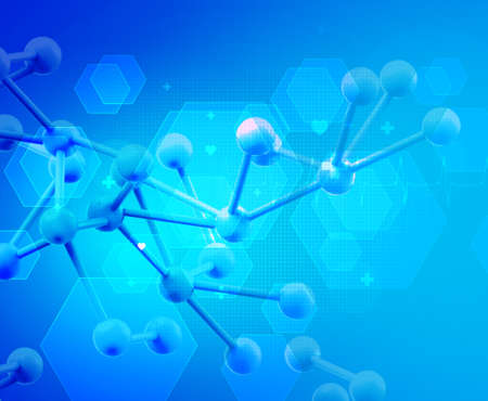 chemists: Abstract 3d molecules medical background