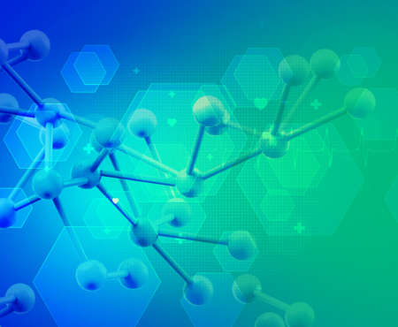 chemical laboratory: Abstract 3d molecules medical background
