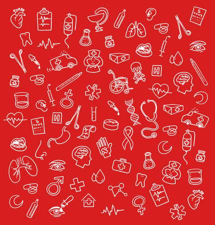 Medicine icons doodle photo