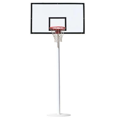 Basketbal hoepel geïsoleerd op een witte achtergrond.