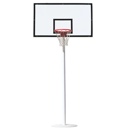 basket: Basketball hoop isolated on a white background.