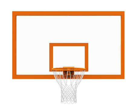 hoops: Basketball hoop isolated