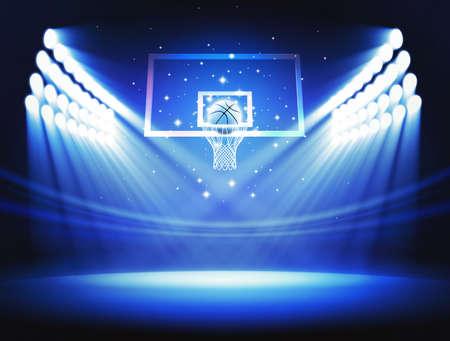 cancha de basquetbol: Aro de baloncesto