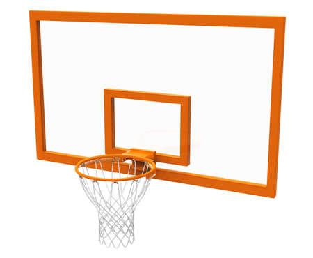 high school basketball: Basketball hoop isolated
