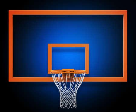 background basketball court: Basketball hoop Stock Photo