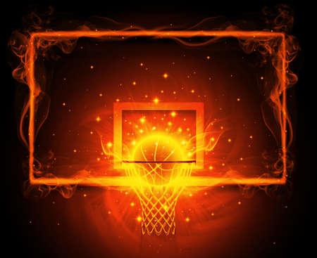 Basketball hoop Archivio Fotografico