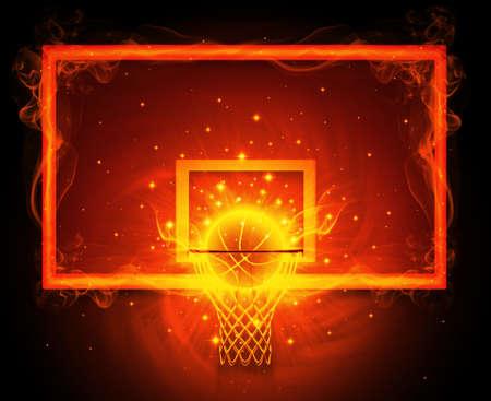 Panier de basket Banque d'images - 35481684