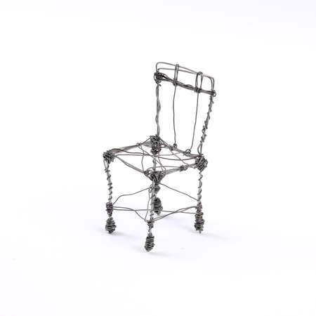 isolated chair: Handmade decorative metal chair