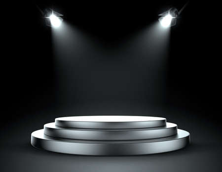 stage decoration abstract: Spotlight stage