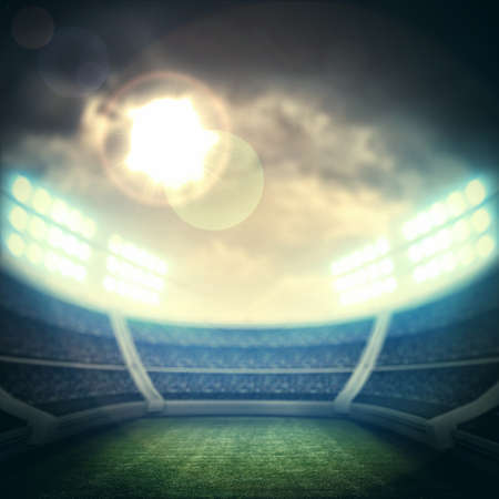 floodlit: stadium lights Stock Photo
