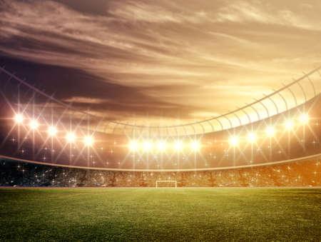 soccer goal: stadium