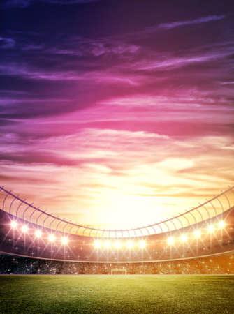 campeonato de futbol: luz del estadio