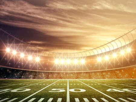 football goal post: light of stadium