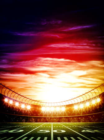 football stadium: light of stadium