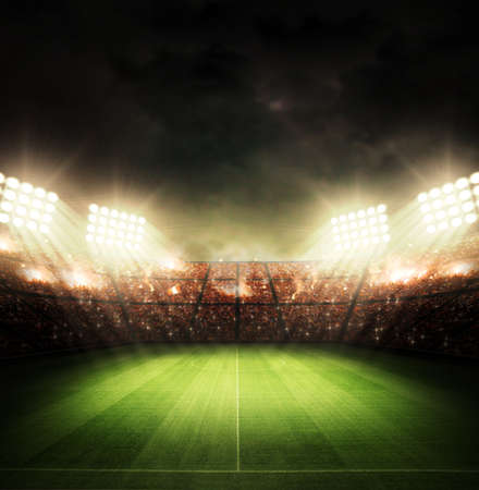 light rays: Stadium light Stock Photo