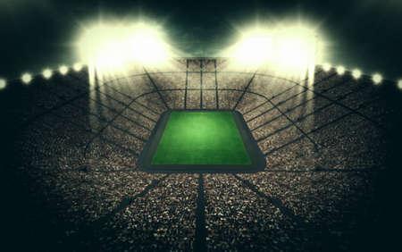cerillos: Estadio de noche