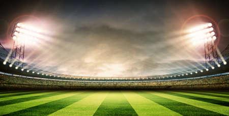horizontal lines: Arena Estadio Foto de archivo