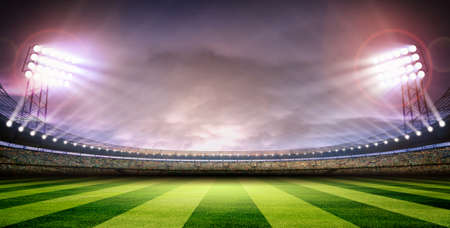 floodlit: Stadium arena