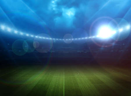 leisure sports: Stadium light Stock Photo
