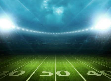 soccer goal: light of stadium