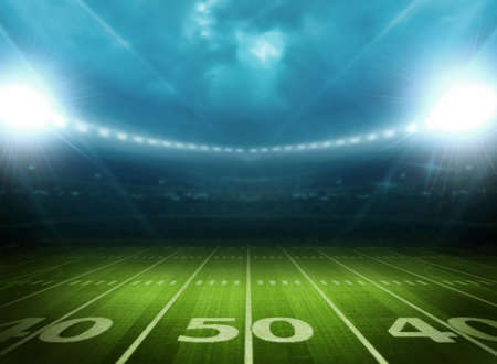 american football field: light of stadium