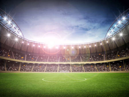 soccer sport: Stadium Stock Photo