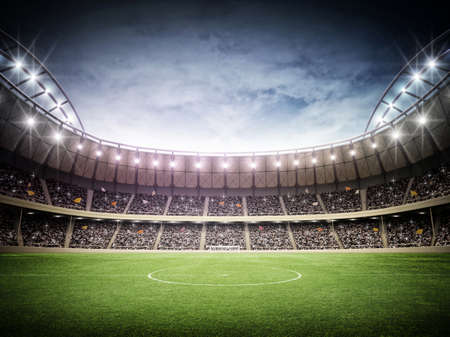 sports backgrounds: Stadium night