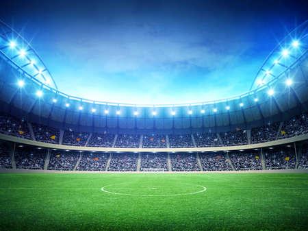field  soccer: Estadio noche