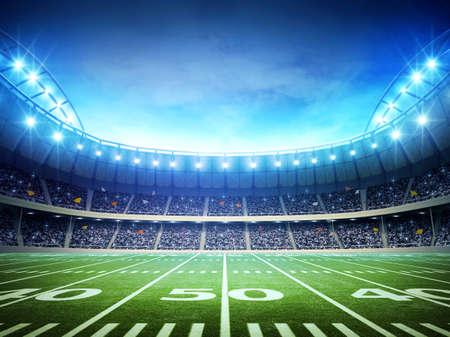 het licht van de Amerikaanse stadion