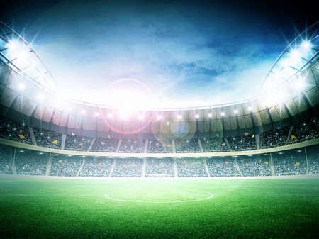 cancha de futbol: Estadio noche