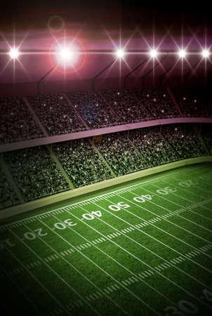 american football background: stadium