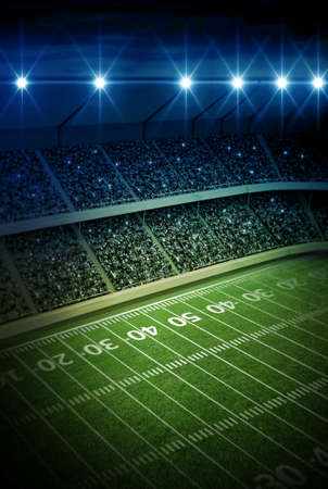 football goal post: stadium