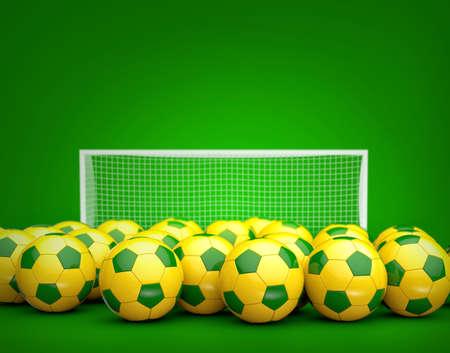 soccer balls: Brazil soccer balls background