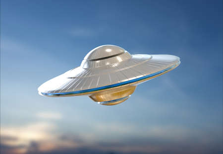 space area: Unidentified Flying Object in sky