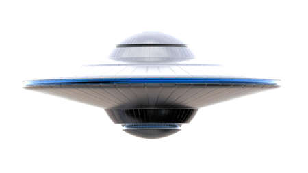 ufo isolated on white background 写真素材