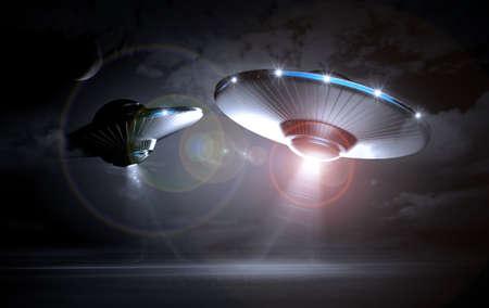 abducted: UFO in dark night