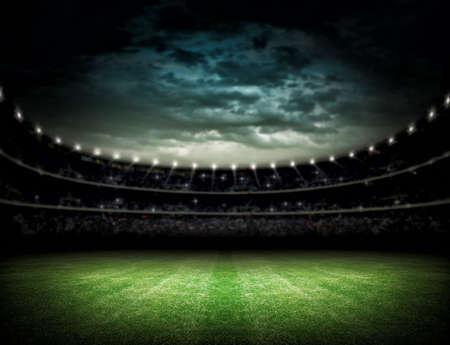 pelota de futbol: Estadio Foto de archivo