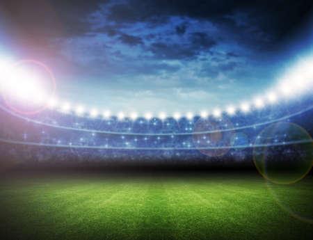 campeonato de futbol: Estadio Foto de archivo