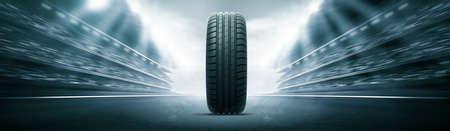 vehicle tire and track arena Фото со стока