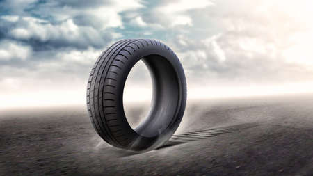 inflate: Tire Stock Photo