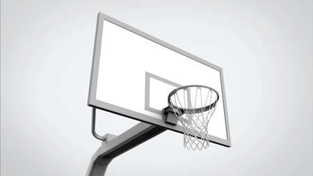 hoop: Basketball hoop isolated
