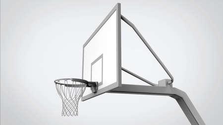 Panier de basket isolé
