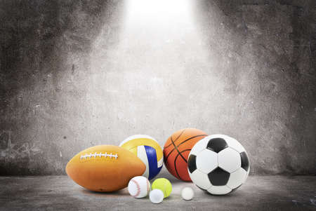 white goods: sports balls concept Stock Photo
