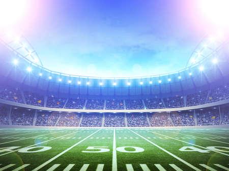 terrain de foot: stade paysages Banque d'images
