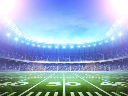 american football: stadium scenery  Stock Photo