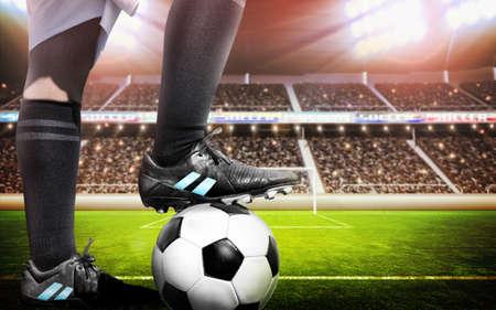 menschenmenge: Fußballkonzept Lizenzfreie Bilder