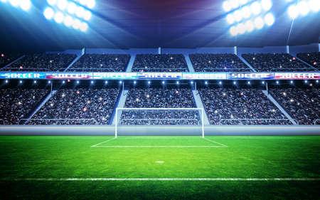 goal line: Soccer stadium